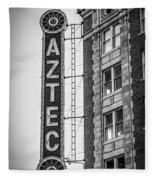 Historic Aztec Theater Fleece Blanket