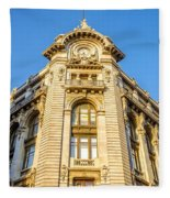Historic Building Facade Fleece Blanket