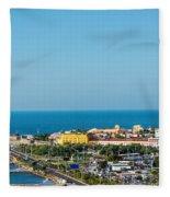 Historic Cartagena And Sea Fleece Blanket