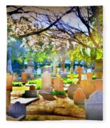 Historic Cemetery  Fleece Blanket