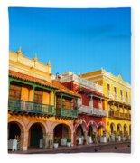 Historic Colonial Facades Fleece Blanket
