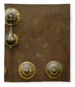 Historic Door In Granada Fleece Blanket