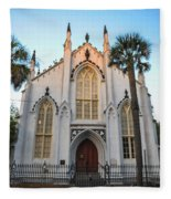Historic Downtown Church Fleece Blanket