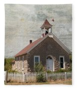 Historic Hinerville School  House  Fleece Blanket