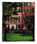 Historic Homes Of Beacon Hill, Boston Fleece Blanket