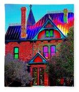 Historic House Pop Art Fleece Blanket