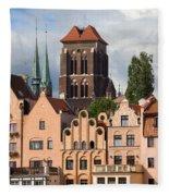 Historic Houses In Gdansk Fleece Blanket