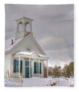 Historic Huffaker Schoolhouse Fleece Blanket