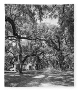 Historic Lane Bw Fleece Blanket