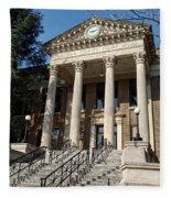 Historic Limestone County Courthouse In Athens Alabama Fleece Blanket