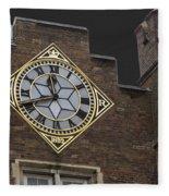 Historic London Clock Fleece Blanket