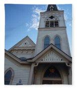 Historic Methodist Church Looking Up Fleece Blanket