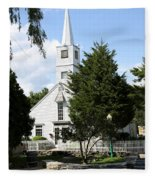 Historic Mystic Church - Connecticut Fleece Blanket