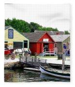 Historic Mystic Seaport Fleece Blanket