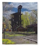 Historic Railroad Fleece Blanket