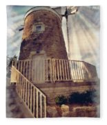 Historic Schonhoff Dutch Mill Fleece Blanket