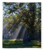 Historic Sibley Cemetery At Fort Osage Missouri Fleece Blanket