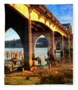 Historic Siuslaw River Bridge Fleece Blanket