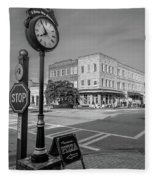 Historic Small Town In South Where Fleece Blanket