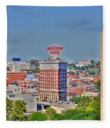 Historic Western Auto Building Kansas City  Missouri Fleece Blanket