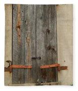 Historic Window Shutters Fleece Blanket
