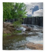 Historic Yates Mill Dam - Raleigh N C Fleece Blanket