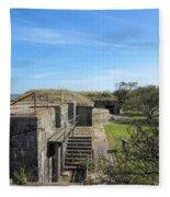 Historical Fort Wool Virginia Landmark Fleece Blanket