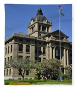 Historical Montesano Courthouse Fleece Blanket