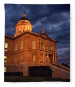 Historical Placer County Courthouse Fleece Blanket