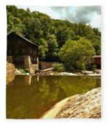History Along Slippery Rock Creek Fleece Blanket