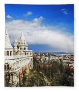 History Of Budapest Fleece Blanket