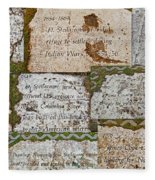 History Of Hill Ward Asylum Fleece Blanket