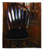 Hitchcock Chair In The Corner Fleece Blanket