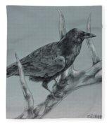 Hitchhiker Drawing Fleece Blanket