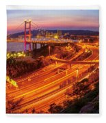 Hk Bridge Fleece Blanket