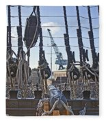 Hms Victory Cannon Fleece Blanket