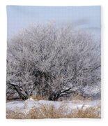Hoar Frost Fleece Blanket
