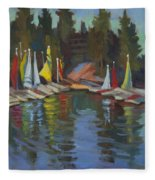 Hobie Cats At Lake Arrowhead Fleece Blanket