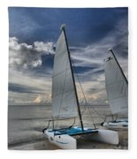 Hobie Cats On The Caribbean Fleece Blanket