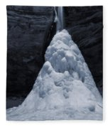Hocking Hills State Park In Winter Fleece Blanket