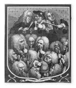 Hogarth: Physicians, 1736 Fleece Blanket