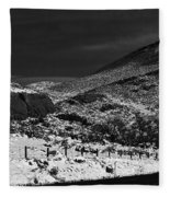 Hogbacks In The Snow Fleece Blanket
