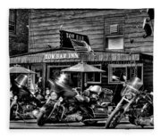 Hogs At The Tow Bar Inn - Old Forge New York Fleece Blanket
