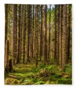 Hoh Rain Forest Fleece Blanket