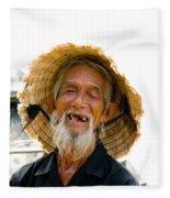 Hoi An Fisherman Fleece Blanket