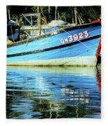 Hoi An Fishing Boat 01 Fleece Blanket