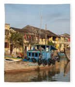 Hoi An Fishing Boats 03 Fleece Blanket
