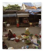 Hoi An Market Fleece Blanket