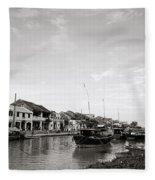 Hoi An Riverfront Fleece Blanket