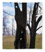 Holey Tree Trunk Fleece Blanket